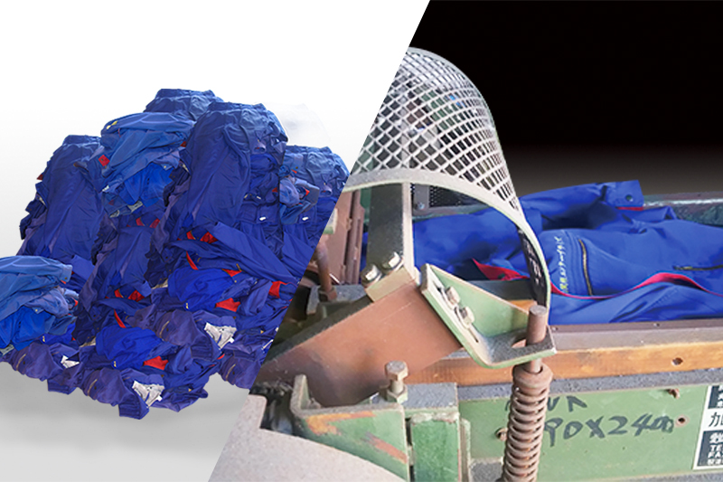 自社の作業服のリサイクル